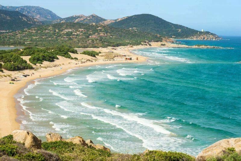 Surfing in Sardinia
