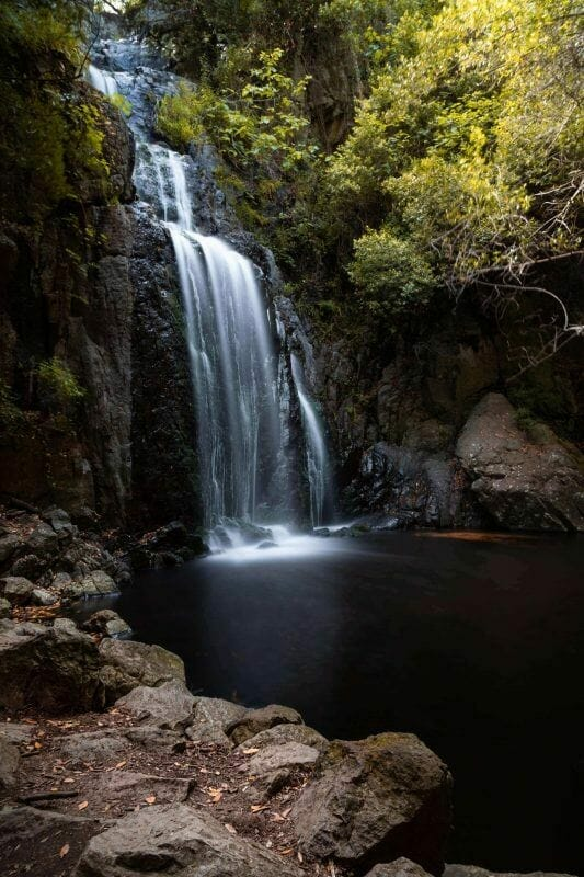 Sardinia waterfall