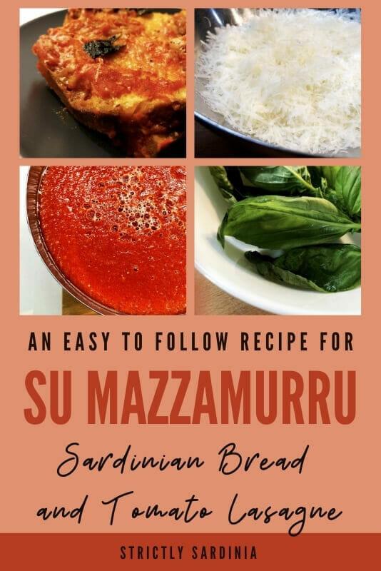 Discover how to make Su Mazzamurru, Sardinian bread and tomato lasagne - via @c_tavani