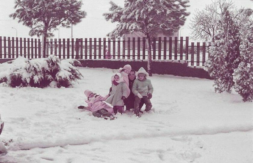 snow in Cagliari 1985