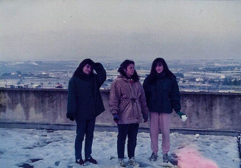 snow in Cagliari