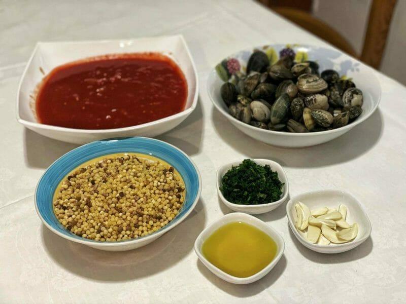 fregola con arselle ingredients