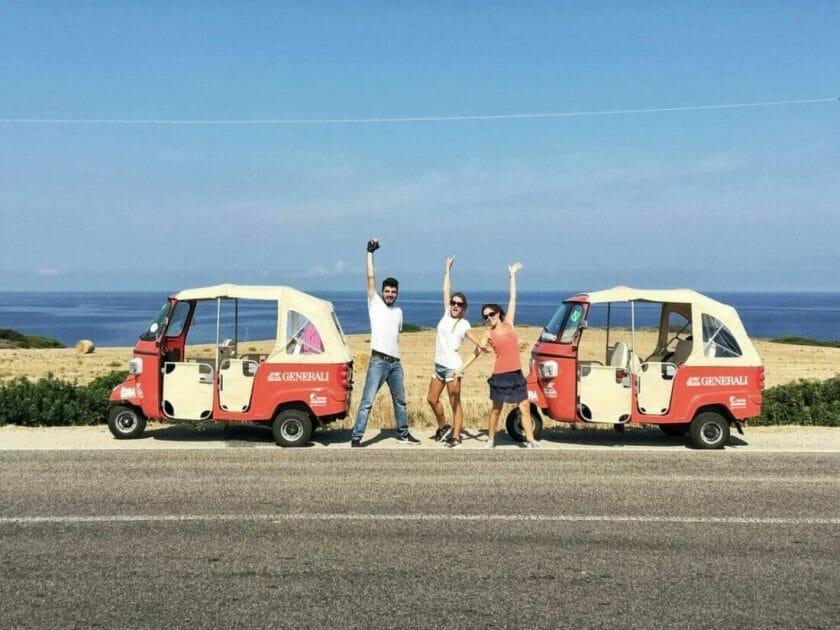 renting a car in Sardinia