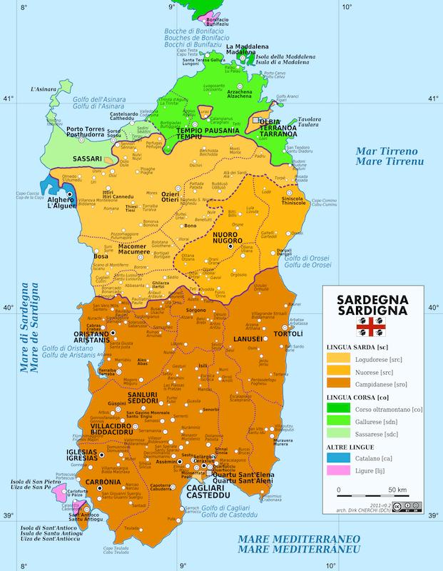 Language of Sardinia