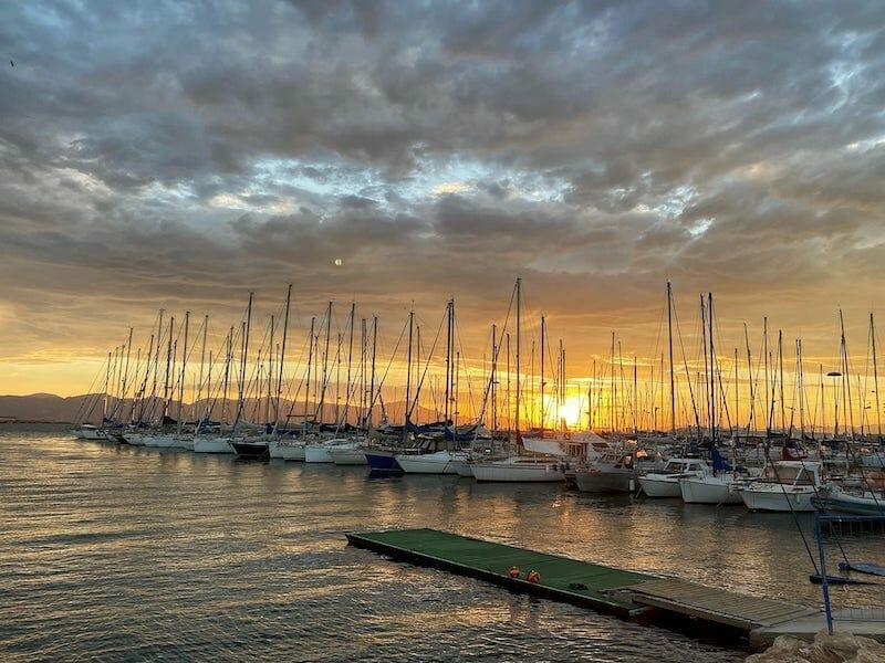 sunset in Sardinia