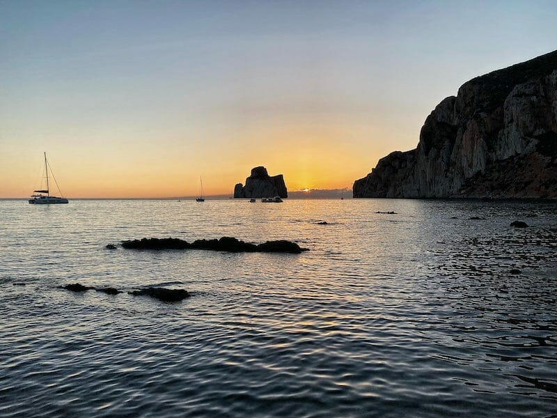 sunset in Masua