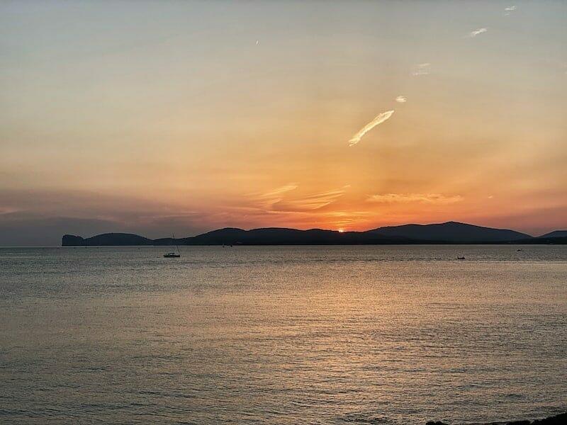sunset in Alghero