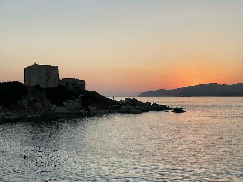 Sunset in Villasimius